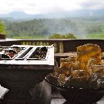 Crackers & sambals...& a view