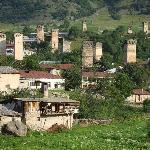 Mestia; Ortsbild von Süden