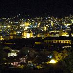 View of Cusco from our balcony at night