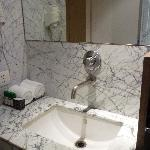 Marble bathroom, lovely toiletries