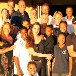 Brad Pitt and Angelina Jolie visiting and supporting N/a'an ku se