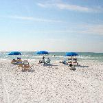 Chairs, Umbrellas and Aquasport rentals available on the beach