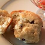 Homemade crusty scones...perfect amount of sweetness!