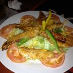 Sauteed Grouper over Salad