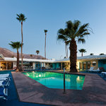 Palm Springs Rendezvous has stunning views and a cool blue courtyard!
