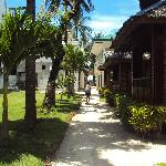 walkway to the cottages