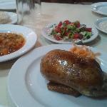 set meal of stuffed pigeon