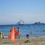 Dinard Bay view typical August day