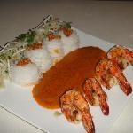 crevettes  aux nouilles