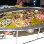 Entrecôte in its special secret sauce