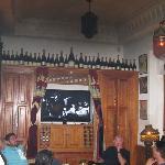 Casablanca showing in Rick's bar