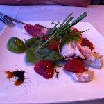 Stawberry, Cheese & Crayfish Entree