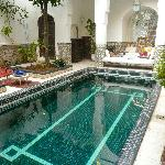 The stunning plunge pool