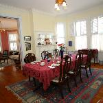 Gorment breakfast in historic dining room
