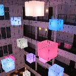 Cool colour changing lights at Lumen