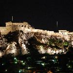 Acropolis from hotel room bathroom window