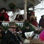Caroling at the gazebo