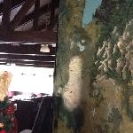 The map in the dining room.