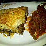 Mousaka at Manoli Canoli