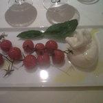 La tomate grappe et sa mozzarella, un délice !!!