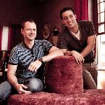 The owners Nicholas & Edward on the Sofa Revolve