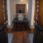 Tasteful, Functional, Spacious Bathroom: his and her sinks on left and right, wardrobes facing s