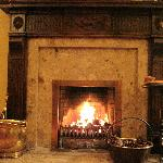 The fireplace in the drawing room.