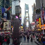 Time Square View from Duffy Square platform