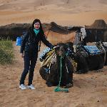 our camp in the midle of the dunes