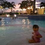 My daughter enjoyed swimming.