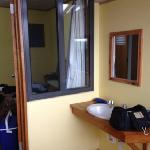 bathroom of lodge double bed