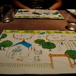 The placemats for 'Takazawa's farm'