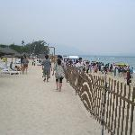 """Not so"" Private Beach, fence denotes private sand area of hotel and then public beach area"