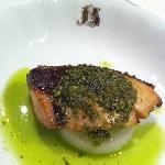 yellowtail with basil sauce