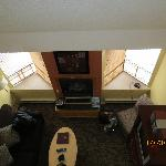 View of Living Area from 2nd Floor - Loft Suite