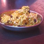 street curry flavored rice crispy (complimentary appetizer)