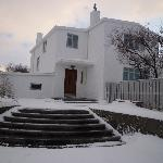 Gljufrasteinn in the snow