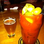 bloody Mary with beer chaser