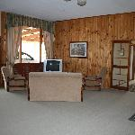 one end of the living area