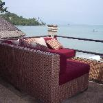 Chillax Morrocan-style lounge overlooking the ocean...heavenly!