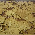 Wood sculpture, Lotus garden, Vietnam
