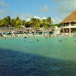 Lagoon beach and bar