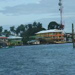 Coming into Bocas town