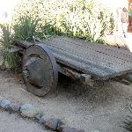 cart with wooden wheels