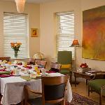 Enjoy a delicious continental breakfast in our cheerful dining room