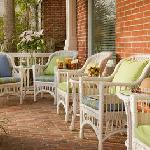 The Front Porch - a favorite vantage point for people watching or a glass of wine