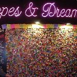 Wishing wall at the TImes Square Visitor Center