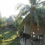 Bungalow on the rice field