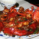 lobster in black bean sauce