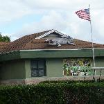 Clubhouse with Alligator on Roof